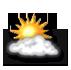 13° / nuageux